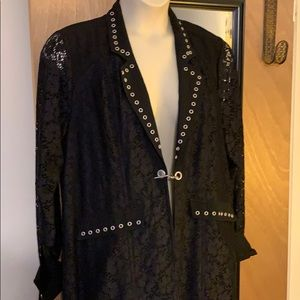 Grommet and lace jacket, NWOT